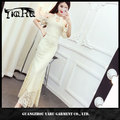 new fashion Korean style women halter lace prom maxi dress fishtaill