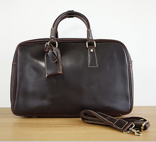 First layer top genuine leather business briefcase Leather travel bag for men
