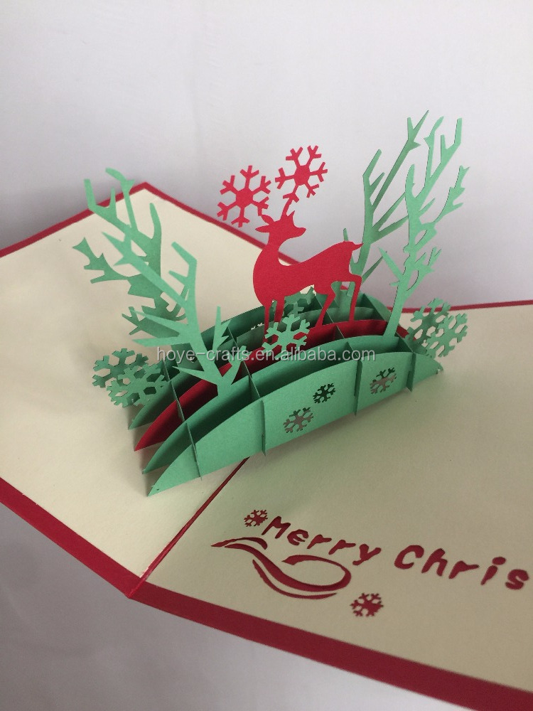 new fashion christmas hot gift 3d greeting card