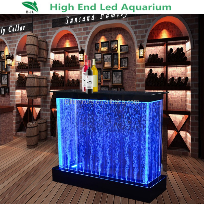 led bubble bar counter illuminated glowing bar table