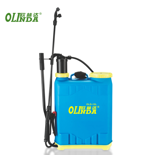 China agriculture crop orchard lawn fruit tree 12L plastic backpack hand spray machine sprayer