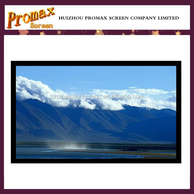 120 inch fixed frame projector screen with 3d silver screen for home cinema