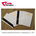 CR80 Size Blank White Plastic PVC Cards,Smart IC Card,Contact 4428 Chip with Hi-Co Magnetic Stripe