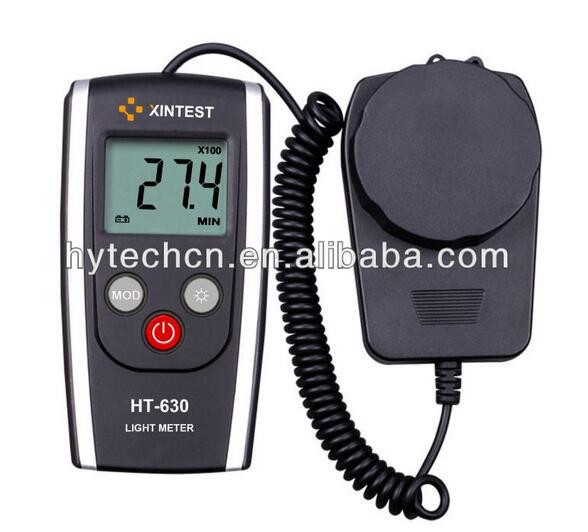 HT 630 Digital Handheld Photography Light Meter with - Measures Lux and Lumens (200,000 LUX MAX Range)