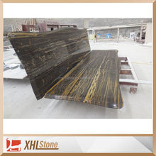 Chinese cheap black portoro marble stone table top counter top banjo vanity top