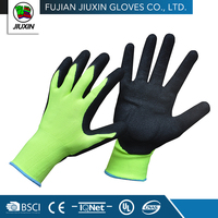 Knitted Craft Waterproof Polyester Chemical Resistant Nitrile Glove