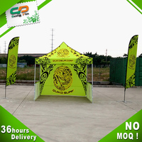 Hot sale 3*3 Aluminum waterproof outdoor advertising portable folding gazebo with flag