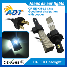 2015 New Invention H4 LED Headlight, 40W 2500LM Car Headlamp Conversion Kit