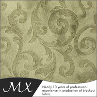polyester blackout fabric for home curtain 100% polyester blackout fabric polyester crepe fabric