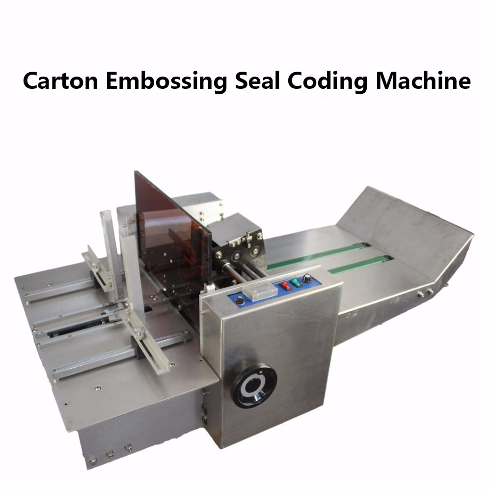 Semi-Automatic Carton Steel embossing Seal Coding Machine For Food, Medicine, Cosmetic Packaging Box Embossed Date of production