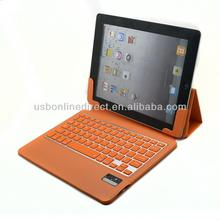 ABS pu leatherf case foldable wireless bluetooth keyboard for ipad air case