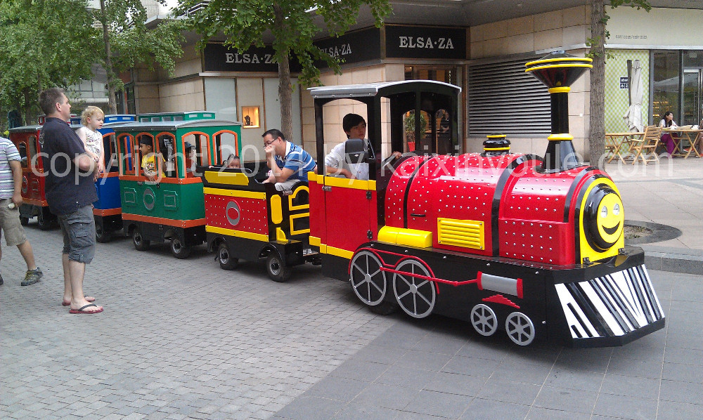 Electric Trackless Mini Train for shopping malls and parks