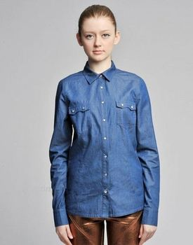 Latest Hot Selling!! OEM Quality short sleeve denim shirt from direct manufacturer