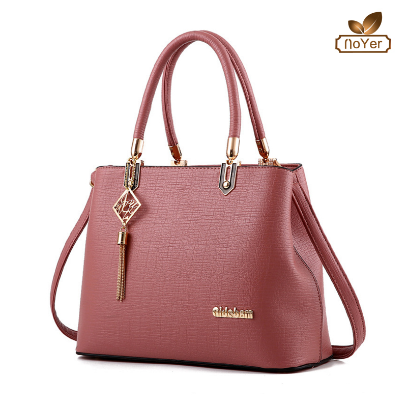 Korea style cheap black ladies office handbags wholesale leather handbags