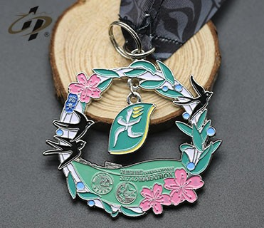 Custom metal made old sport uae medal with ribbon
