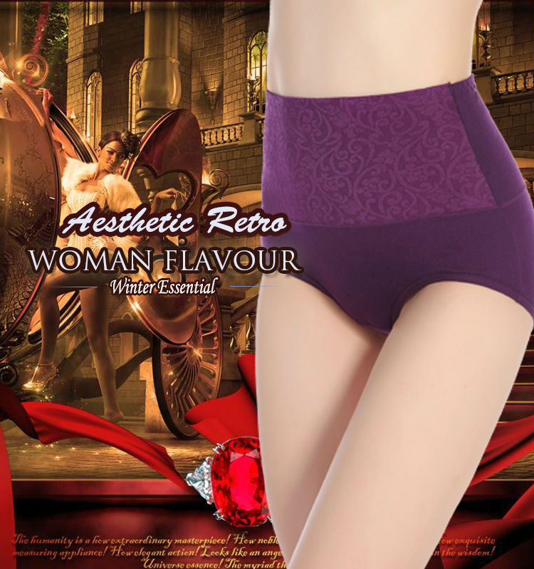 Luxury high waist lady panty slimming panty old women in underwear