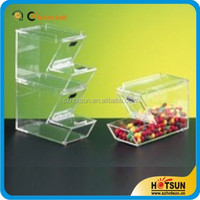 clear acrylic stackable candy bins with scoop
