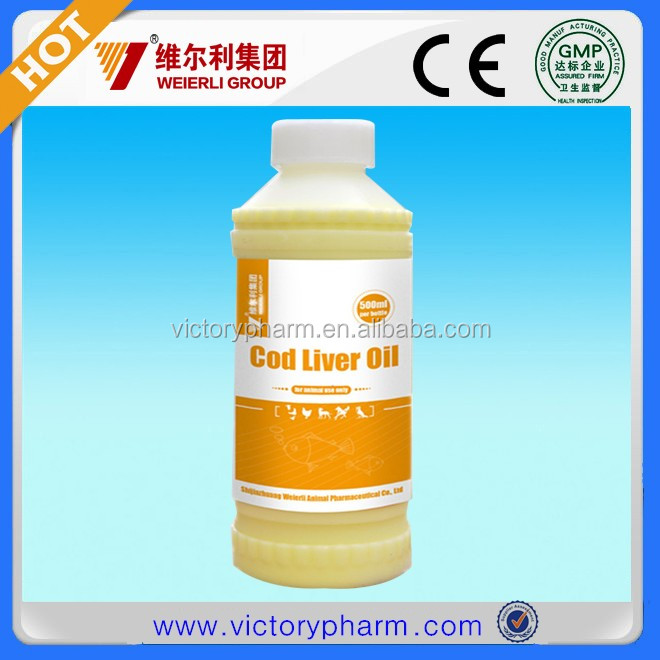 Cod iver oil liquid for animal use improve immunity with vitaminA,C,D