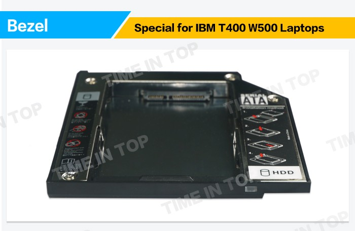 2nd HDD Caddy for ThinkPad T400 W500 Series