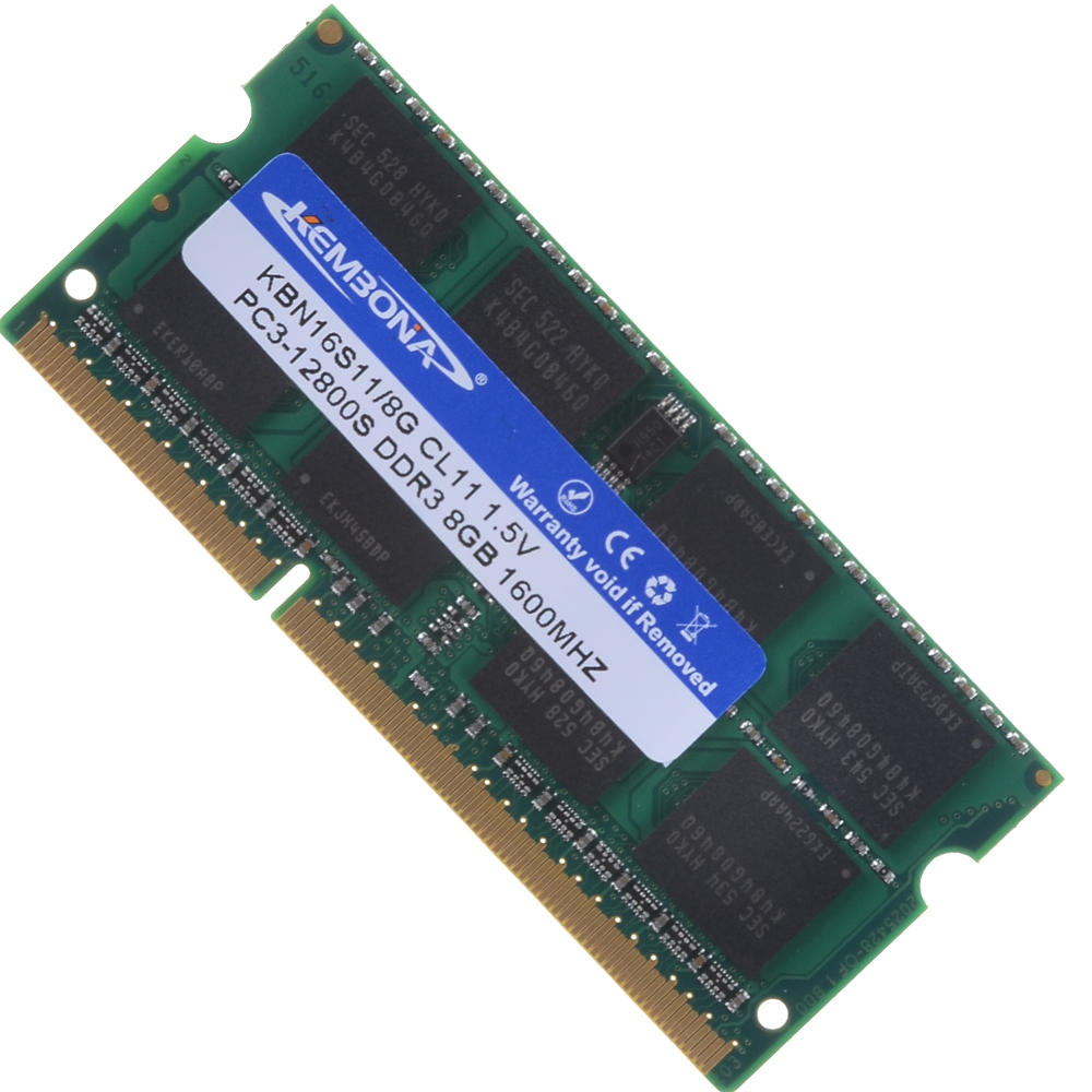 Brand and major 3rd original chips laptop ddr3 8gb 1600mhz pc3-12800 ram memory module