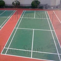 Good cushion effect polyurethane badminton flooring outdoor sport floor