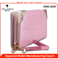 Famous Brand soft leather Zip Ladies Purse Wallets