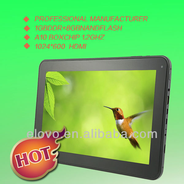Shenzhen Mid Manufacture 10.1'' Android Pad Allwinner A10 tablet PC Android4.0 1.2GHz PPC Dual Camera 1G/8G
