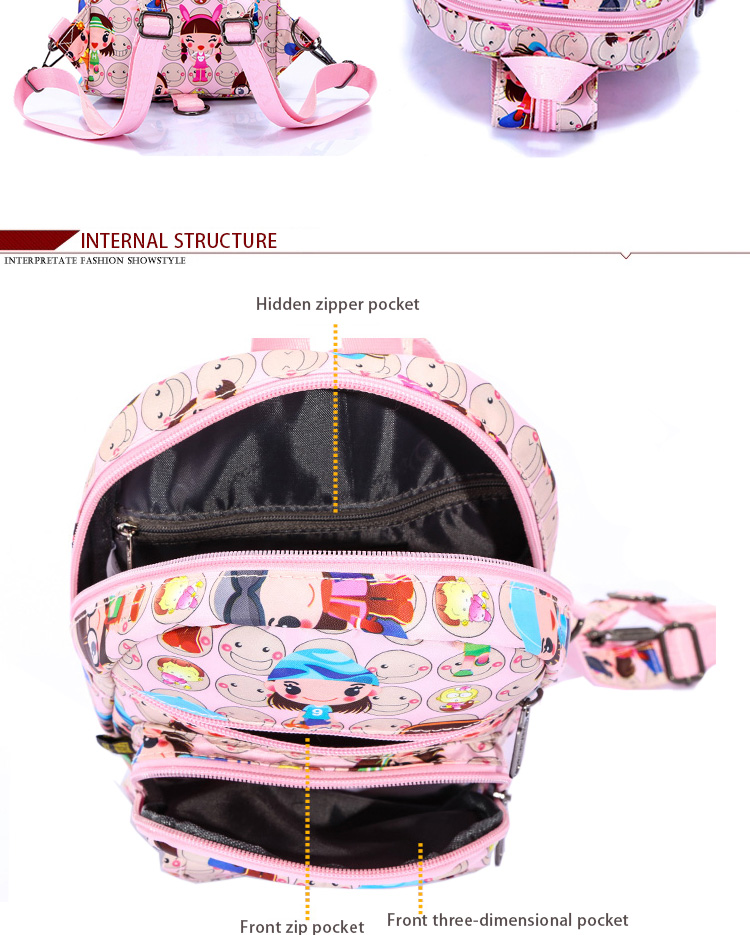 ViViSECRET sublimation kids cartoon used children trendy school bags for girls