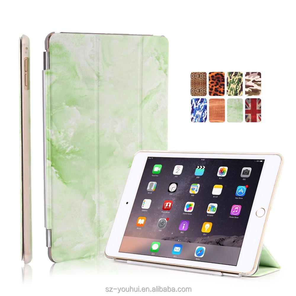 New Style Tablet Cover For Ipad Air 2 Leather Printed Case