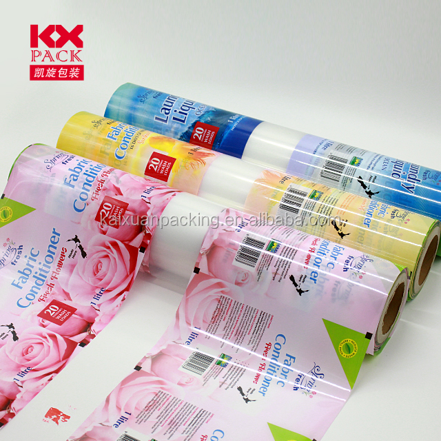 Customized Plastic Packaging Roll Film For Laundry Detergent Packing