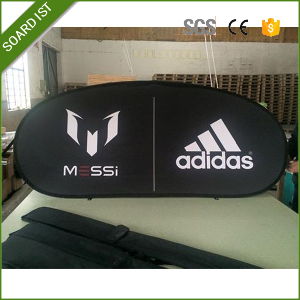 manufacture portable polyester Pop Up A Frame Banner/wholesale 70x100 metal steel oval pop up banner