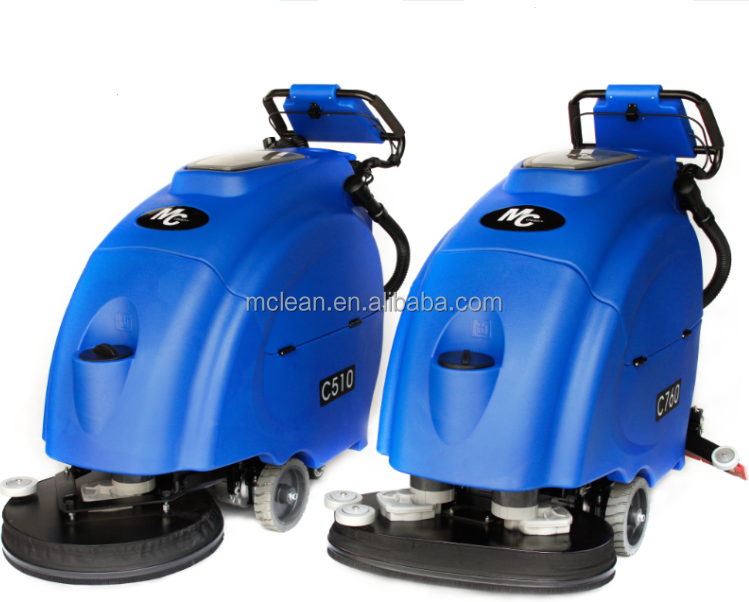 Compact walk-behind battery floor scrubber dryer C660 for cleaning heavy grease and grime in large warehouse and factory