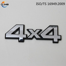3mm 3d stickers chrome car custom separated letters / auto letter emblem/truck letter number