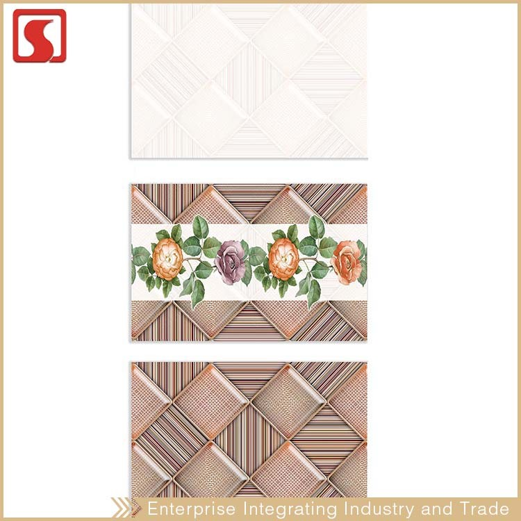 30X60 Diamond Mosaic Ceramic Wall Tile Store With Flower