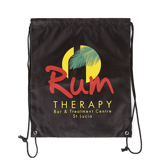 Factory wholesale waterproof Custom cheap printed Polyester Nylon Drawstring Bag