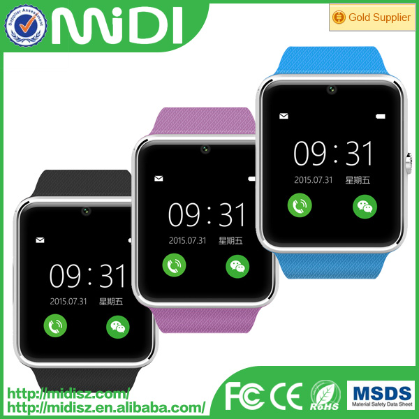 latest design GT08 smart bluetooth watch with camera factory directly sale cheap watch for iphone