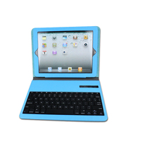 hot sale ABS slim wireless bluetooth keyboard with leather pu