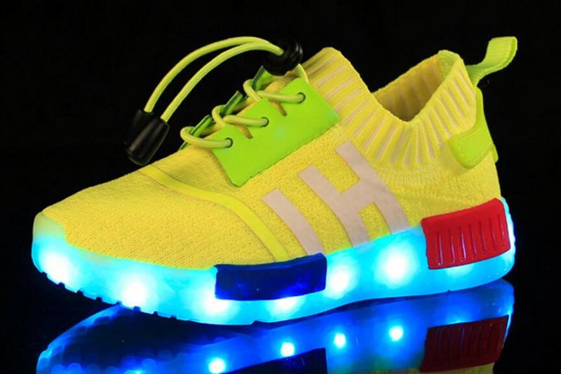 Hot Selling7 colours led Light up shoes LED fashing shoes for children