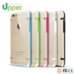 High quality ultra thin transparent mobile phone silicone cover cases for iphone 6