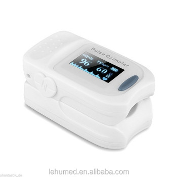 FS20A Generation 3 Fingertip Pulse Oximeter Blood Oxygen Saturation Monitor with silicon cover, batteries and lanyard