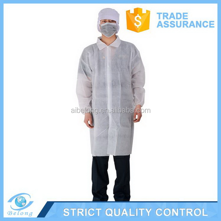 Special customized cost price zip disposable lab coat