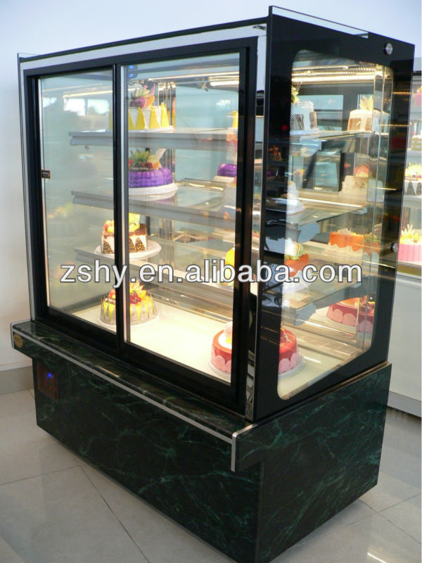 Japanese stype upright refrigerated cake display case for supermarket & store