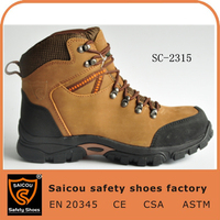 steel toe cap for safety shoes and brown mesh fire resistant safety boots SC-2315