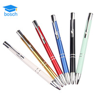 Promotional ballpoint pen with custom logo advertising personalized twist metal ball pen