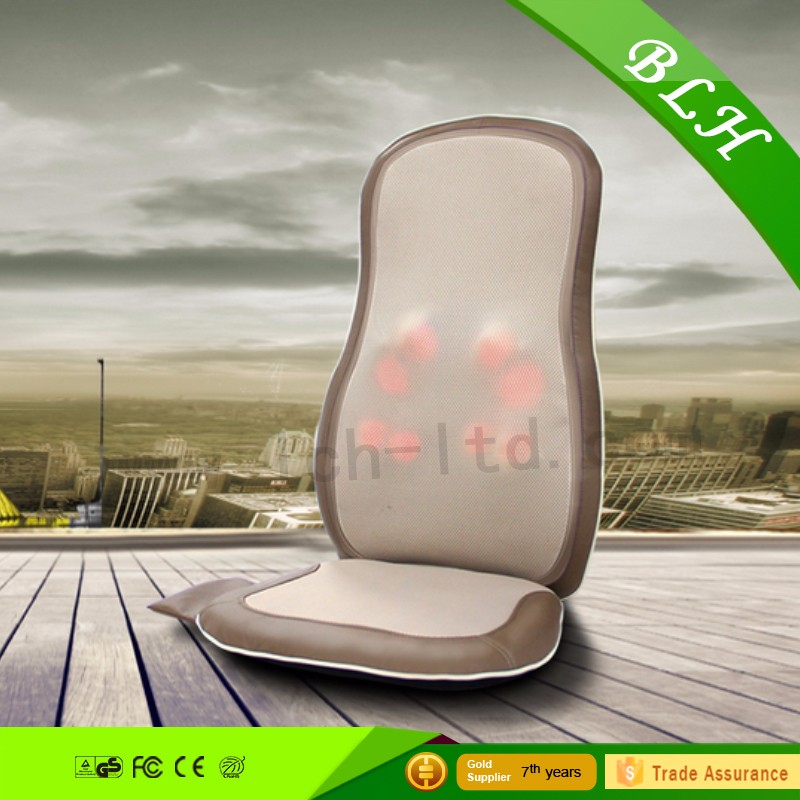 BLH mini Infrared heating Vibration Kneading Rolling Shiatsu Body Back Massage Cushion For Car Seat