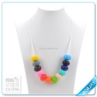 Silicone Teething Beads necklace Ruby beads necklace