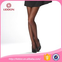 lady sexy black transparent silk stockings super silk feeling pantyhose OEM