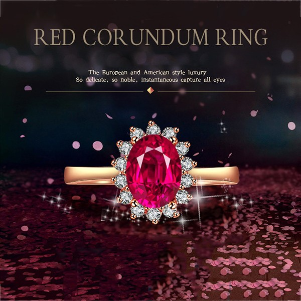 Fashion wholesale gold diamond rose ring 925 silver diamonds engagement rings jewelry price women adjustable