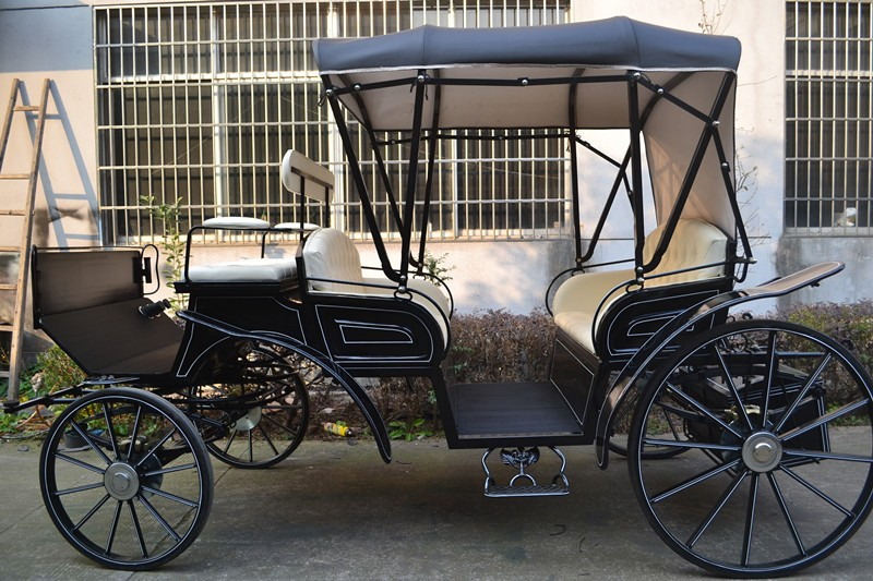 Black Wedding Cinderella Carriage, horse drawn buggy for sale