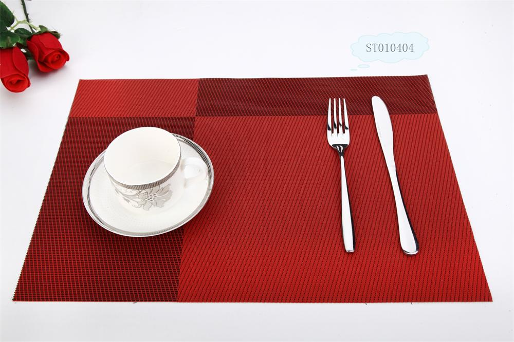 Gimmick design Red twill Kitchen Table Placemat